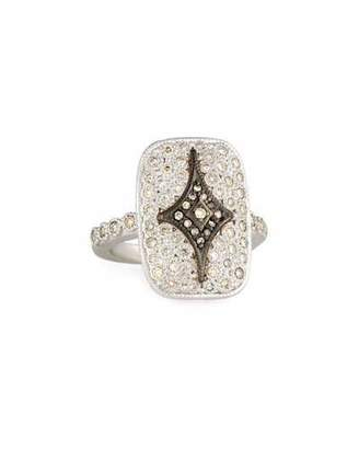 Armenta New World Rectangular Pave Crivelli Shield Ring
