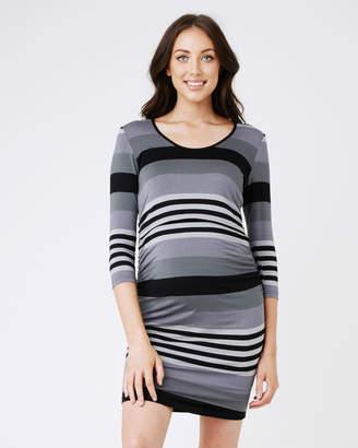 Ripe Maternity Striped Nursing Dress