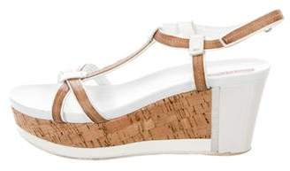 Prada Sport Patent Leather T-Strap Wedges