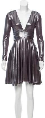 Halston Metallic Mini Dress