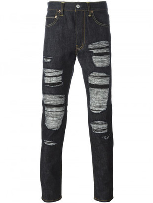 Junya Watanabe Comme des Garcons Man Junya Watanabe x Levi's worn effect slim-fit jeans $718 thestylecure.com