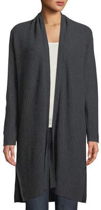Neiman Marcus Cashmere Vertical Metallic Stripe Duster