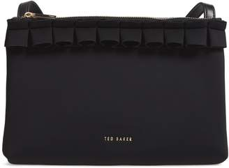 Ted Baker Really Ruffle Faux Leather Crossbody Bag