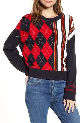 Tommy Hilfiger Argyle & Stripe Sweater