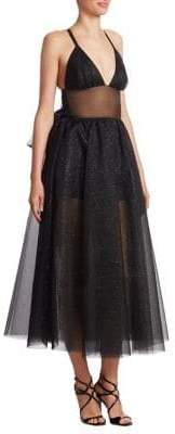 Rosie Assoulin Tulle Shimmering Midi Dress