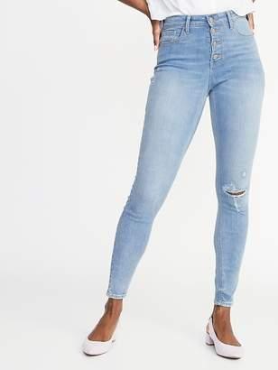 Old Navy High-Rise Secret-Slim Pockets Distressed Rockstar Ankle Jeans for Women