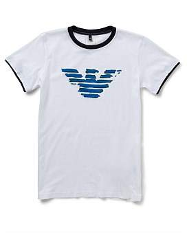 Armani Junior Boys Short Sleeve Logo Tee