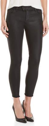 DL1961 Black Florence Instasculpt Cropped Coated Jeans