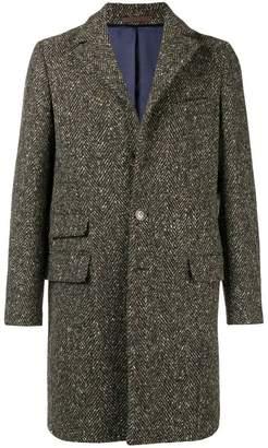 Eleventy single breasted herringbone coat