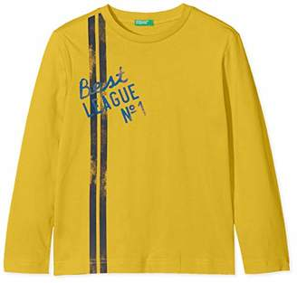 Benetton Boy's T-Shirt L/s,(Size: Small)