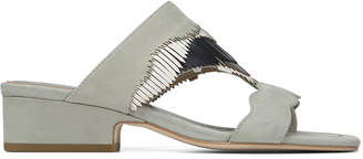 Donald J Pliner DARCIE, Luxe Nubuck and Metallic Nappa Leather Sandal