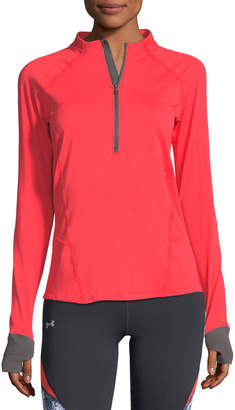 Under Armour Run True Half-Zip Long-Sleeve Pullover Shirt