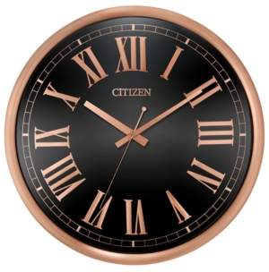 Citizen Gallery Black & Rose Gold-Tone Wall Clock