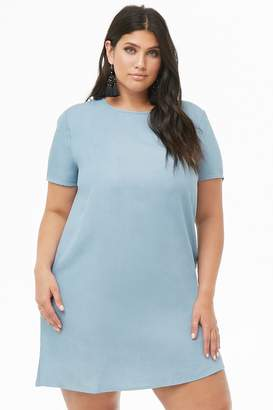 Forever 21 Plus Size Chambray Shift Dress