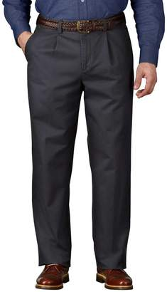 Charles Tyrwhitt Grey Classic Fit Single Pleat Washed Cotton Chino Pants Size W32 L38