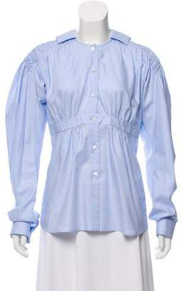 Loewe Long Sleeve Button-Up Blouse