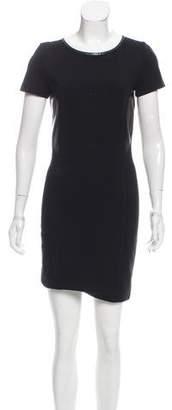 Barbara Bui Leather-Trimmed Mini Dress