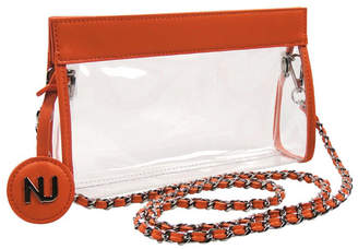 clear Nu Women Zoe Braided Chain Strap Purse