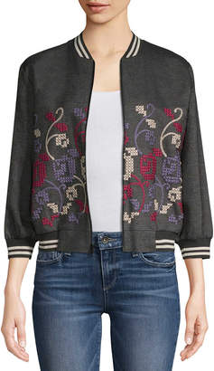 Anna Sui Cross-Stitch Embroidered Jacket