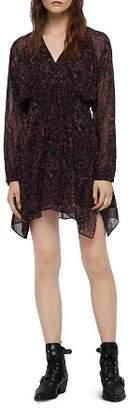 AllSaints Nichola Rosey Floral Print Dress