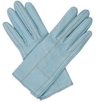Hermes Logo Lambskin Gloves w/ Tags