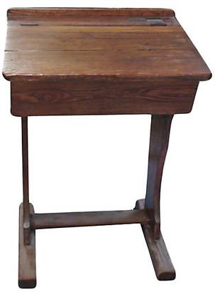 One Kings Lane Vintage 19th-C. English Schoolboy Desk - Laurie Frank