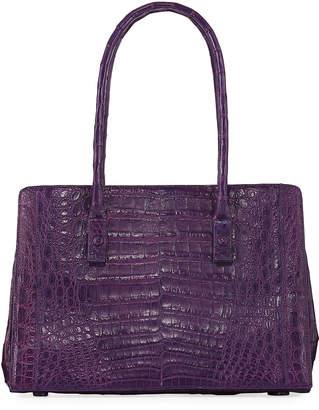 Nancy Gonzalez Crocodile Stud-Handle Tote Bag