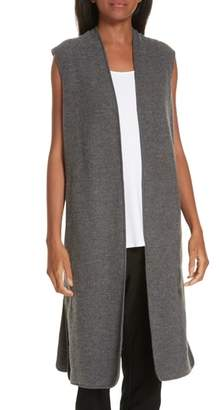 Eileen Fisher Long Merino Wool Vest