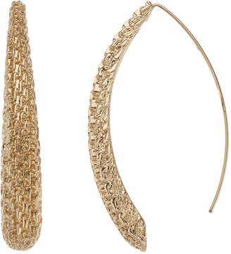 Dana Buchman Gold Tone Mesh Threader Earrings