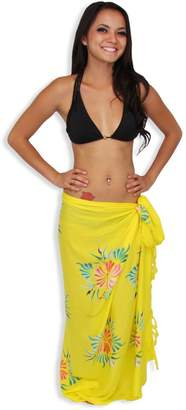 72b1ef5471791 Hawaiian Aloha Fashions Sarong Swimsuit Cover-up and Hibiscus Flowers with  FREE Sarong Tie Accessory