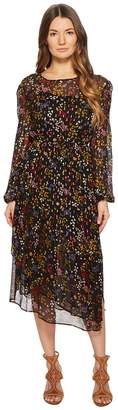 See by Chloe Printed Silk Crepon Midi Dress
