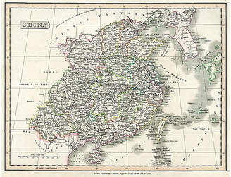 One Kings Lane Vintage Map of China - 1824 - Prints with a Past