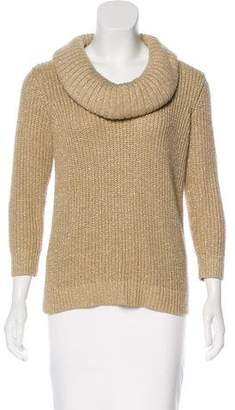 MICHAEL Michael Kors Metallic Turtleneck Sweater