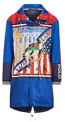 Polo Ralph Lauren Men's Nylon Taffeta Crescent Logo Americana Marsh Jacket