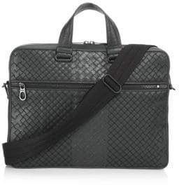 Bottega Veneta Leather Messenger Briefcase
