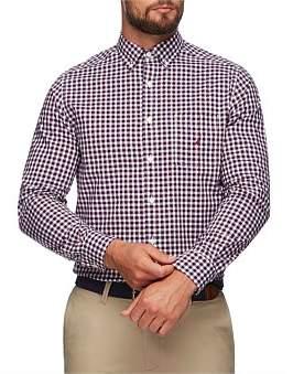 Nautica Long Sleeve Classic Plaid Shirts