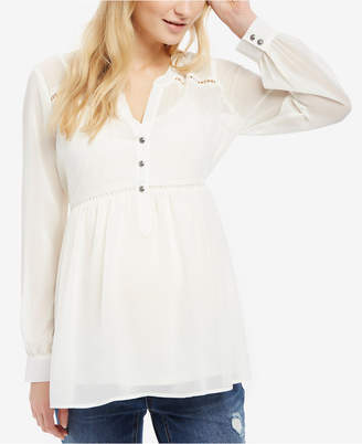 Motherhood Maternity Button-Front Babydoll Blouse $44.98 thestylecure.com