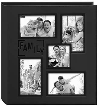 "Pioneer Collage Frame Embossed ""Family"" Sewn Leatherette Cover 240 Pocket Photo Album"