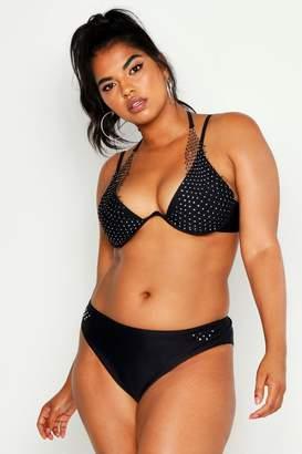 Recreational Black Jewelled Halter Neck Swimsuit Sports