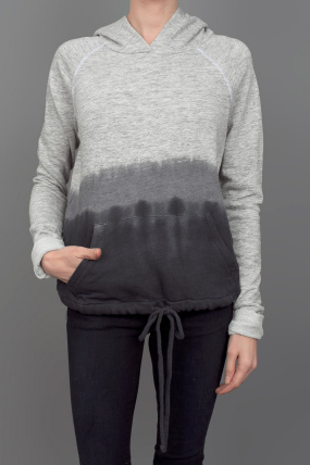 The Lady & The Sailor Dip Dye Hoodie Char