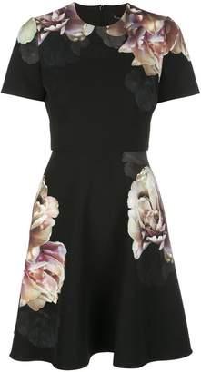 Black Halo Enchantment print mini dress