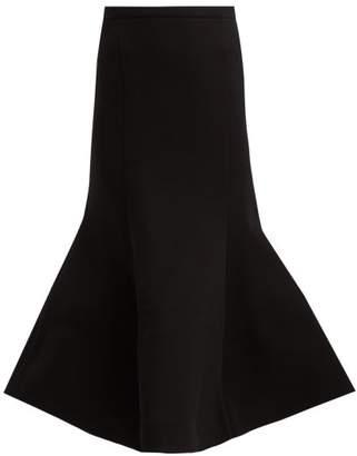 Vika Gazinskaya Trumpet Hem Jersey Skirt - Womens - Black