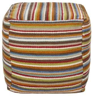Surya Pouf Oxford Tan 18 x 18 x 18 Accent Furniture Pouf