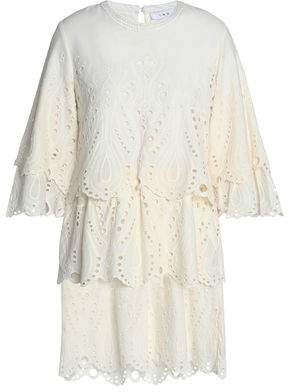IRO Tiered Broderie Anglaise Cotton Mini Dress