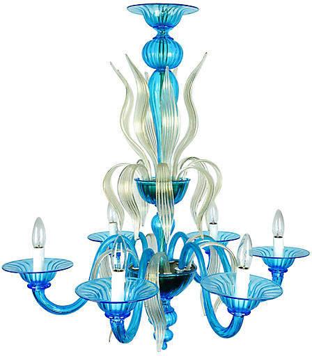 One Kings Lane Vintage Murano Glass Chandelier - La Maison Supreme