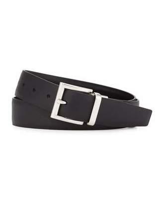 Prada Saffiano/Smooth Leather Reversible Belt $445 thestylecure.com