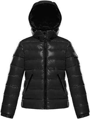Moncler Bady Fitted Puffer Jacket, Black, Size 4-6
