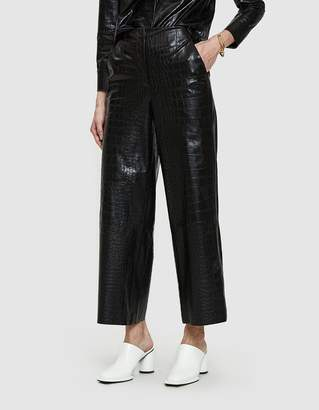Nanushka Africa Croc-Embossed Vegan Leather Pant