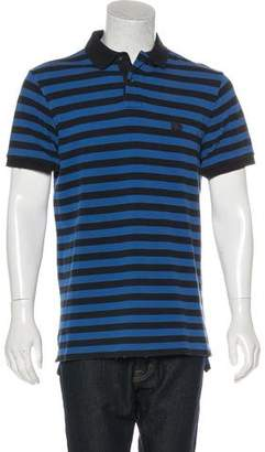 Burberry Striped Distressed Polo Shirt
