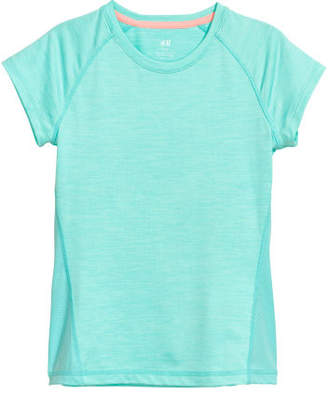 H&M Short-sleeved Sports Top - Turquoise